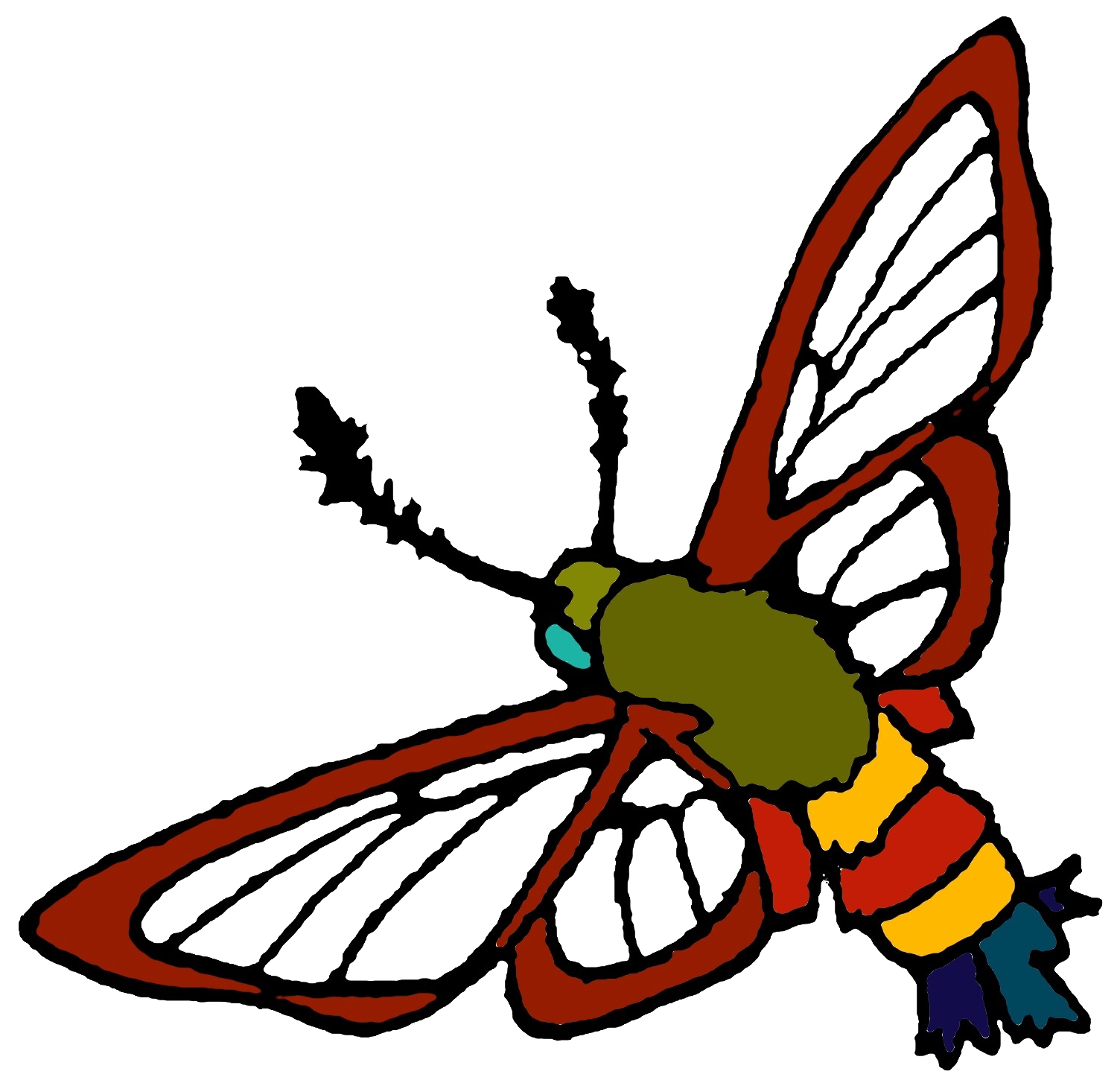 an image of a clearwing moth